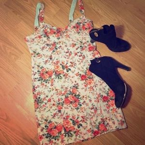 New Free People Floral bodycon dress